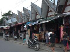 Souvenir stalls in Tomok Village; Samosir Island