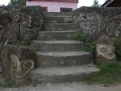 Samosir is a volcanic island as evidenced by its numerous stone carvings
