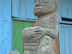 Volcanic statue at Parulubalangan