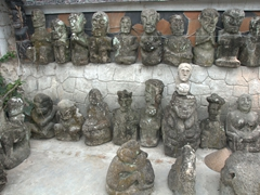 Volcanic statues galore in Tuk Tuk Village