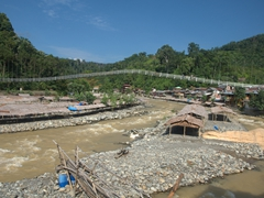 Bridge over Bahorok River; Bukit Lawang