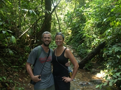 Sweaty and happy after our hike at Bukit Lawang