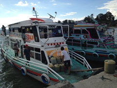 Our high speed ferry transport across Lake Toba