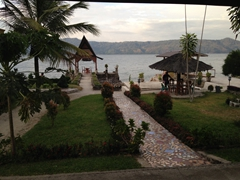 View of Lake Toba from our porch; Lekjon Cottage