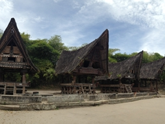 Traditional Batak style houses; Museum Huta Bolon Simanindo