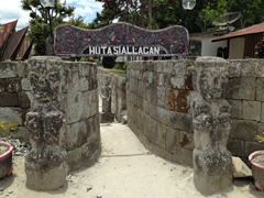 Entrance to Huta Siallagan, famous for its stone chairs