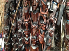 Wood carvings for sale; Huta Siallagan
