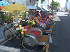 Colorful trishaws - an interesting way to explore Georgetown