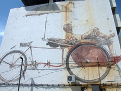"""The Awaiting Trishaw Peddler"" mural"