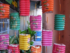 Colorful lanterns in old Georgetown
