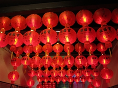 Lanterns hanging at Hock Teik Cheng Sin Temple