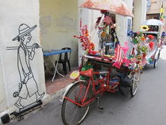 Garish trishaw decorations
