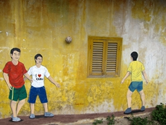 Wall mural in Kuala Besut
