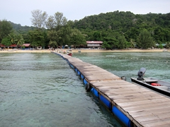 Our jetty leading to the Reef Chalets; Pulau Perhentian Kecil