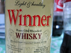 Winner whisky - the name says it all
