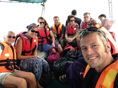 Speedboat back to Kuala Besut
