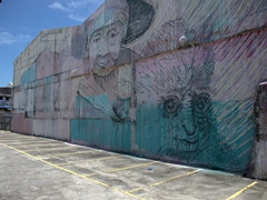 Another of Georgetown's numerous wall murals