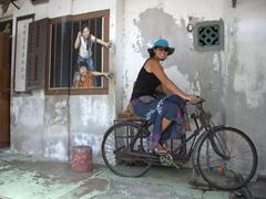 Becky stealing a bike!