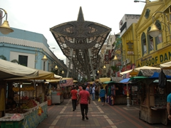 Kasturi Walk - a covered open-air flea market set along Jalan Kasturi, a lane running alongside the Central Market; Kuala Lumpur