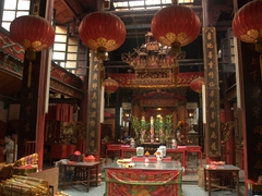 Interior of Sin Sze Si Ya Temple, KL's oldest Chinese temple