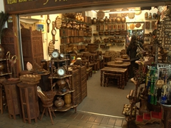 Wood furnishings store; KL's Central Market