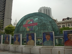 Entrance to the underground mall at Merdeka Square