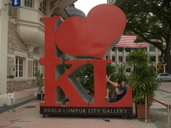 Robby strikes a pose in KL