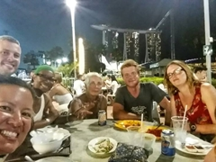 Final group dinner at Makansutra Gluttons Bay with a phenomenal view of Marina Bay