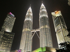 Sound and light show at the base of Petronas Towers
