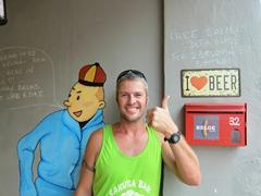 Tintin joins Robby in loving Belgian beer