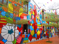 Colorful building in Malacca