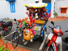 An over the top trishaw