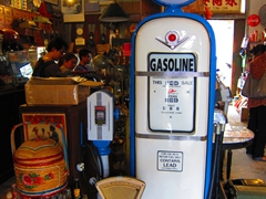 Mobilgas for sale at the flea market