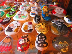 Painted rocks for sale; Malacca's Trash & Treasure discovery flea market