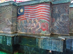 Fountain detail at the Dataran Pahlawan Melaka Megamall