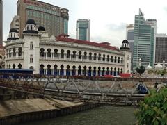 Panoramic view of Panggung Bandaraya, a historical theater and old city hall building; Kuala Lumpur