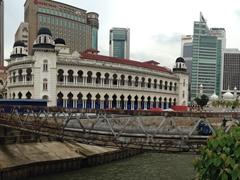 Panoramic view of Panggung Bandaraya, a historical theater and old city hall building; Kuala Lumpur