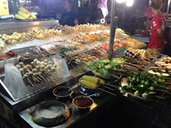 A sampling of skewers; Jalan Alor