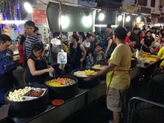 Dim sum vendor; Jonker Street night market