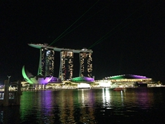 Marina Bay Sands sound and light show