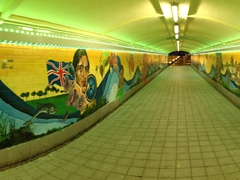 Panoramic view of an eyecatching underground tunnel