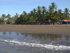 Our first view of Costa Rica, the sleepy port town of Puntarenas. We were told to book a day trip here as Puntarenas itself has little to offer