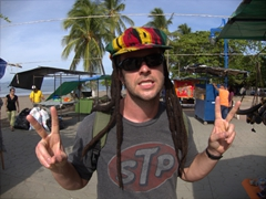 Robby and the rasta hat; Puntarenas