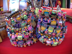 Colorful and intricate headbands for sale; Puntarenas