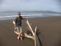 Robby chilling on Puntarenas Beach