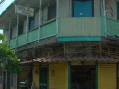 A colorful wooden shack in Puntarenas
