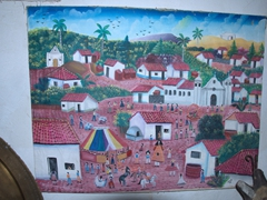 Wall decor inside the cantina; Villa Lapas