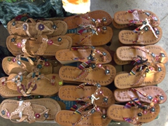 Leather sandals for sale; Puntarenas