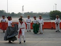 Dancers greet us upon arrival at Puerto Chiapas