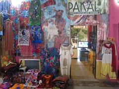 Souvenir store inside the cruise terminal palapa; Puerto Chiapas